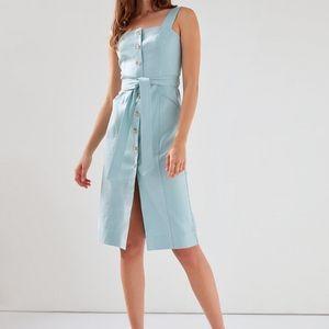 Aritzia Babaton Kofi Sea Spray Square Neck Dress